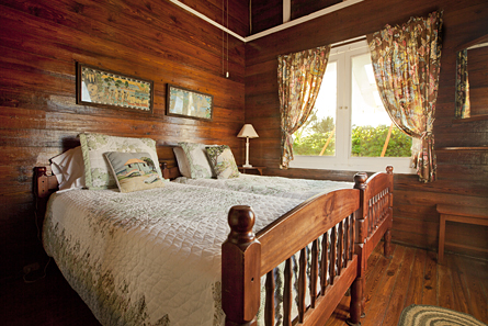 Second cottage bedroom with two twin beds.