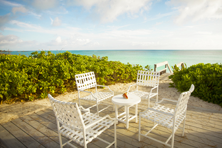 Beachside patio is the perfect place to enjoy your morning coffee!