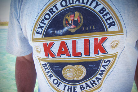 The legendary Bahamian beer, Kalik, can be found everywhere on the island.