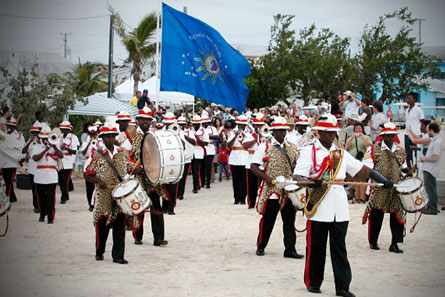 The Royal Bahamas Police Force Police Band at the Island Roots Heritage Festival.